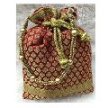 Handmade Zari Embroidery Coin Bag For Girls