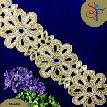 75mm gold zari embroidery lace trim for wedding dress