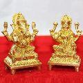 Brass Laxmi and Ganesh Statue