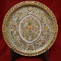 Marble Handmade Gold Painting Handicraft Plate