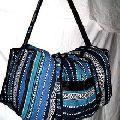 Hand Woven Cotton Backpack Crossbody bag Vegan Duffle
