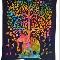 Indian Multi Elephant Wall Hanging Tapestry