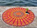 Beach round tapestry mandala
