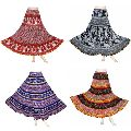 Hand Block Print Sanganeri Cotton Long Skirt