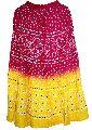 Rajasthani Multicolored Bandhej Hand Work Skirt