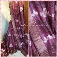 Zari Border tussar silk Sari