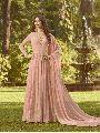 Designer Peach Anarkali Salwar Suit