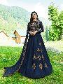 Navy Blue Designer Anarkali Salwar Suit