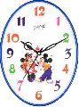 Oval Shaped Wall Clock