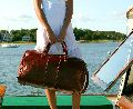 Ladies Leather Travel Bag