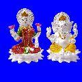 925 Sterling Silver Laxmi Ganesh Statue