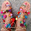 Ladies Boho Designer Leather Strappy Sandals