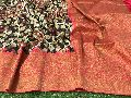 Pure handloom Banarasi kalamkari silk sarees with blouse Rich weaving border 2350 inc ship