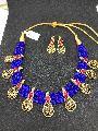Silk Thread Gold Necklace Set