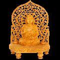 Santarms Wooden Jali Budha Statue