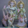 18 Inch Marble Radha Krishna Statue