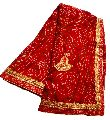 Womens Georgette Rajasthani Bandhani fancy border Saree