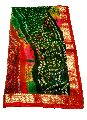 Womens Georgette fancy border Rajasthani Bandhani Saree