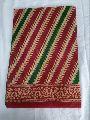 Striped Cotton Printed Saree