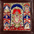 Balaji Lakshmi Ganesha Saraswathi Murugan Hanuman Garudan Panel Tanjore Painting