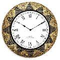 Wooden Brass Wall Clock