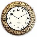 Wooden Pop Brass Wall Clock
