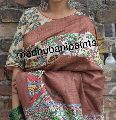 Tussar Ghicha Madhubani Painted Saree