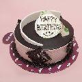 Chocolate Cream Birthday Cake