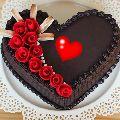 Lovely Heart Shape Chocolate Cake