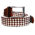 Mens Canvas Leather Belt