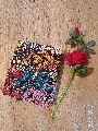Kantha Floral Embroidered Silk Saree