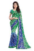 Blue & Green Casual Wear Georgette Sarees