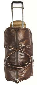 Leather Trolley Duffle Bag