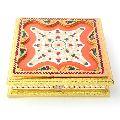 Golden Meenakari Booti Work Handmade Dryfruit Box