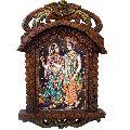Radha Krishna Playing Flute Wooden Jharokha Gift 437