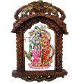 Rajasthani Designer Wooden Radha-Krishna Jharokha 435