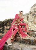 Leo Royal Georgette Pink Suit