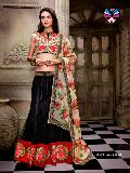 Adorable Black Party wear Net Lehenga Choli