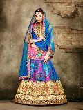 Bollywood Style Blue Net Embroiderd Lehenga Choli