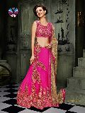 Designer Pink Net Wedding Lehenga Choli