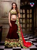 Eid Special Celebrity Style Brown Net Lehenga Choli