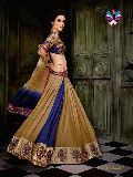 New Trend Designer Blue and Beige Lehenga Choli