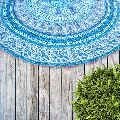 Bohemian Indian Mandala Floral Cotton Beach Throw Towel