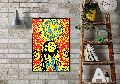 Floral Bob Marley Wall Poster Home Decorative Poster
