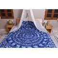 Blue Floral Hippie Cotton Duvet Cover
