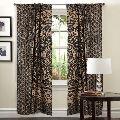 Indian Mandala Golden Black Ombre Print Home Decorative Window Curtain