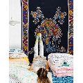 Mushroom Print Mandala Tapestry Wall Hanging Decorative