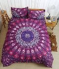 Pink Mandala Handmade Floral Home Decorative Duvet Cover