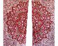 Red Indian Mandala Handmade Floral Window Curtain