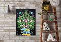 Tree Elephant Handmade Wall Poster